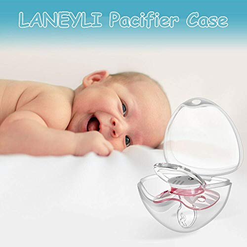 LANEYLI Pacifier Case Pacifier Holder Case Pacifier Clip Binky Holder Case Pacifier Box Pacifier Accessories 3 Pack Brown
