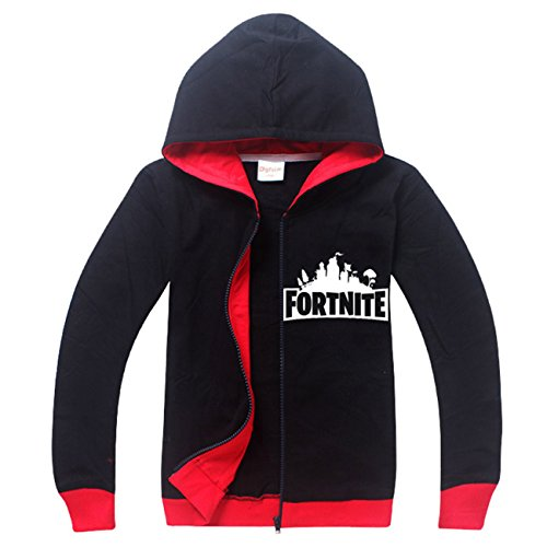 2e3be5a3b97 SERAPHY Fortnite Hoodies PS4 Gaming Unisex Top Sweaters Jumper Long Sleeve  Jackets with Zippers for Kids