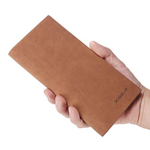 Clutch Wallet Mens Leather Bifold Card Holder for men wallets - 4