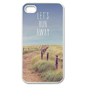 Lets Run Away Unique Design Case for Iphone 4,4S, New Fashion Lets Run Away Case