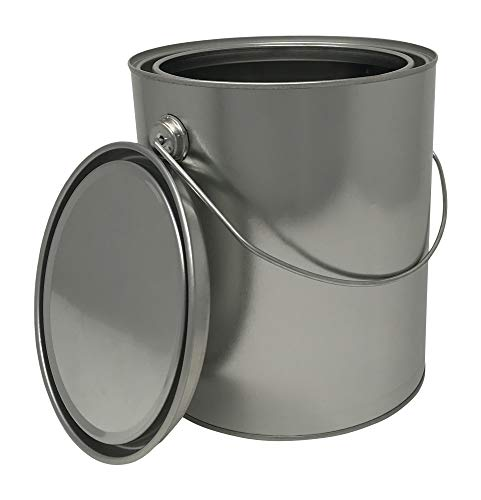 CSBD 1 Gallon Paint Can with Ears, Bail, Lid, Empty, Made in USA, Unlined, 1 Pack (Metal) (What's The Best Paint For Metal)