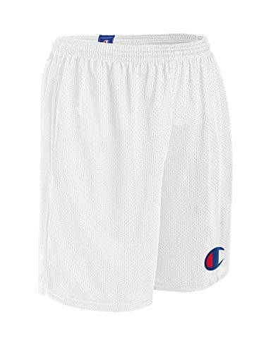 Champion Men's Graphic MESH Short, White, Small