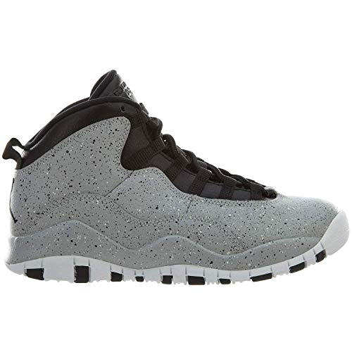 Nike Kids Air Jordan 10 (GS) - Light Smoke - Grey/Black-White Cement Size Big Kids 5]()