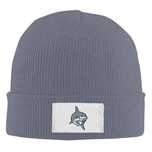 HR Adult's Shark Icon Elastic Knitted Beanie Cap Winter Warm Skull Hats