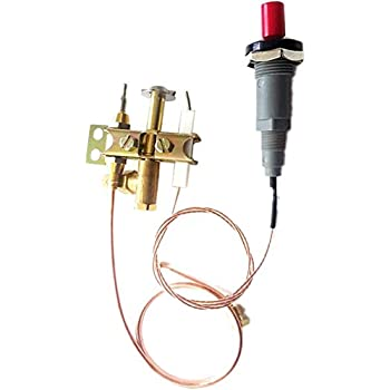 Push button igniter set with Pilot burner thermocouple 900mm M9X1 nuts