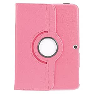 QYF 360 Degree Rotating Book Stand Case for Samsung Galaxy tab 3 10.1 P5200(Assorted Color) , Red