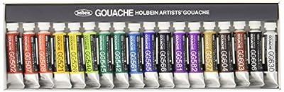 Holbein Artist Gouache Set G704 : 18 x 5ml tubes