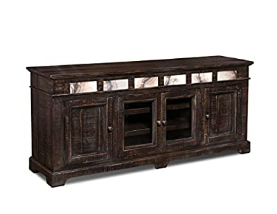 """Onyx Solid Wood 75"""" TV Stand/Sideboard"""