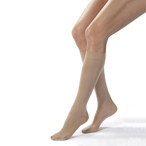 Jobst Opaque 30-40 mmHg Closed Toe Knee High Extra Firm Compression Stockings in Petite by Jobst
