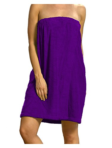 Terry Womens Cotton Blended Bamboo Spa Towels- S/M, Purple Color