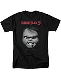 Men's Childs Play 3 Face Poster Adult T-Shirt
