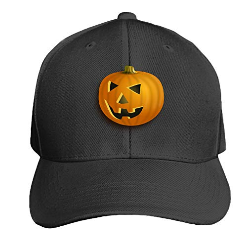 Baseball Caps, Women Men Unisex Pumpkin Lantern Halloween Jack-O-Lantern Orange Snapback Hats Baseball Caps -