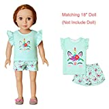 Unicorn Pjs Matching Dolls & Girls Pajama Sets