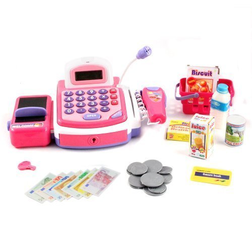 Pretend Play Electronic Cash Register Toy Realistic Actions & Sounds Pink Color: Pink, Model: , Toys & Play (Toy Cash Registers For Girls compare prices)