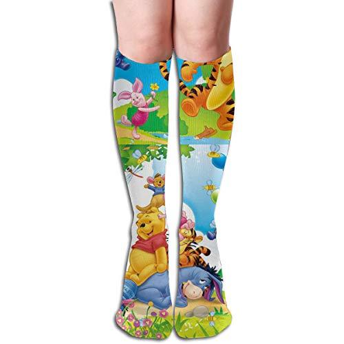 ZTKJ Winnie The Pooh Eeyore Piglet Tigger and Kanga Customized Personality Sport Athletic Crew Socks for Unisex