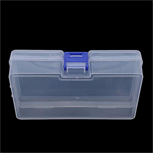 LZIYAN Rectangular Nail Storage Box Clear Transparent Nail Art Beads Organizer Display Box Container For Jewelry Rings,Blue buckle by LZIYAN (Image #4)