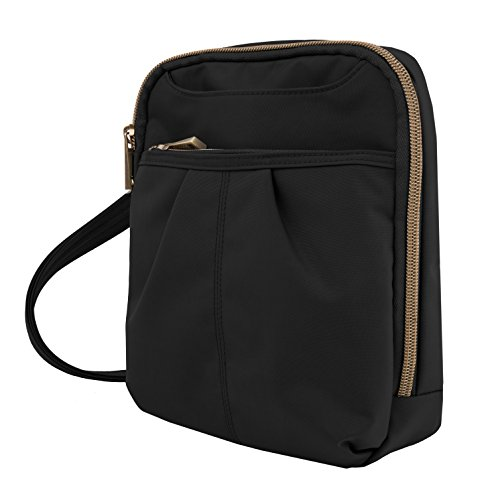 Travelon Anti-Theft Signature Slim Day Bag, Black, One Size - Signature Cross Body