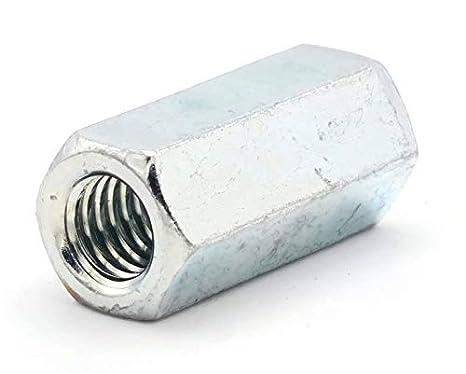 1-8 - Qty-25 1-3//8 F x 2-3//4 L Coupling Nut Zinc Plated