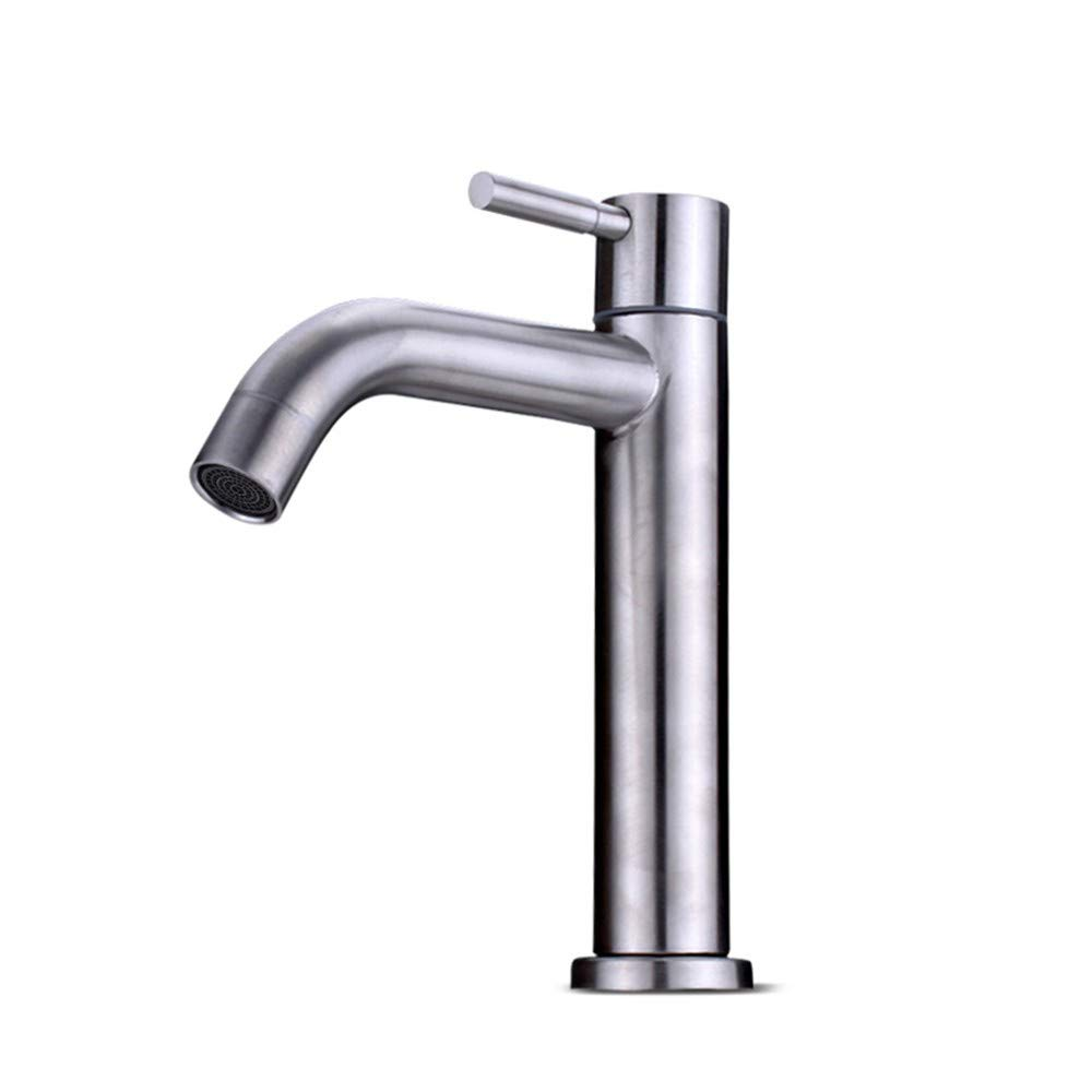 Wasserhahn einzigen kalten einzigen Loch 304 Edelstahl Waschbecken Waschbecken unter Zähler Becken Wasserhahn
