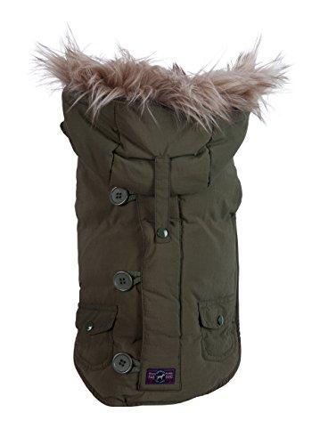 fabdog Snorkel Dog Jacket Olive (12