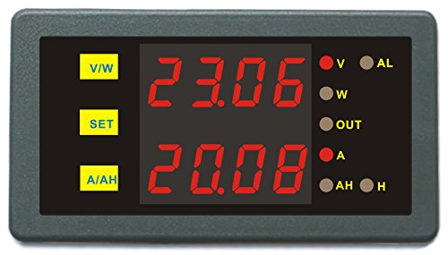 Modular Display System Rectangle (AILI Full Programmable DC Combo Meter DC 0-200V 0-100A Voltage Current Energy Power Watt Battery Indicator)