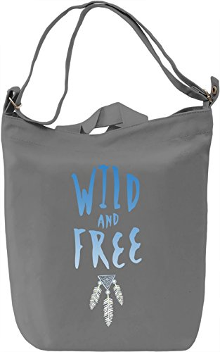 Wild And Free Borsa Giornaliera Canvas Canvas Day Bag| 100% Premium Cotton Canvas| DTG Printing|