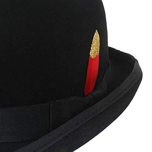 Moda Dome Lana Bowler Cálido Cap Jazz Mujeres Hombre Brim Floppy Hombres Invierno Vintage Hat Sombreros Negro Gorras De Jddrcase Casual Fedora HWTEUzx