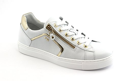 Scarpe Giardini Donna Zip Bianco 05262 Lacci Sportive Nero Sneakers U1qtzq