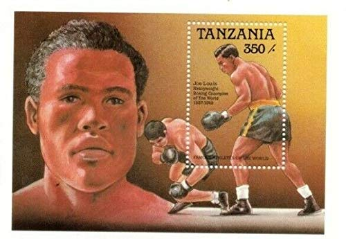 Famous Black Athletes - Joe Louis - World Famous Boxer - Limited Edition Collectors Stamps - Tanzania