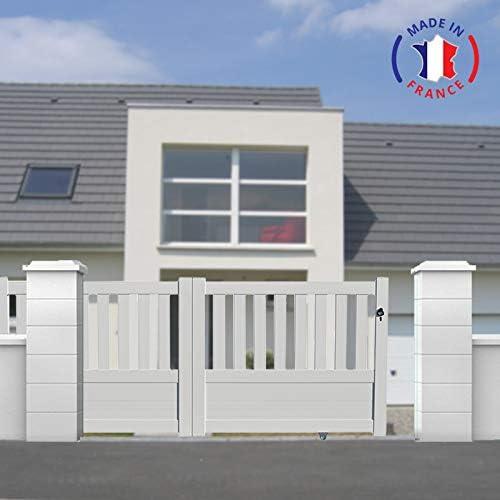 PACKIT puertas correderas aluminio en Kit Semi ajouré L3000 X H1300, blanco: Amazon.es: Jardín