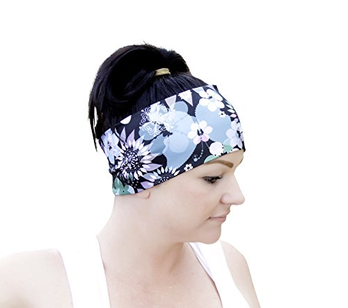 Fitness & Sports Headband For Women (Double-Thick) Made of 90% Polyester & 10% spandex - Non-Slip, Stretchy, Super Soft and Comfortable - Wicks Sweat and Fits Most Heads.