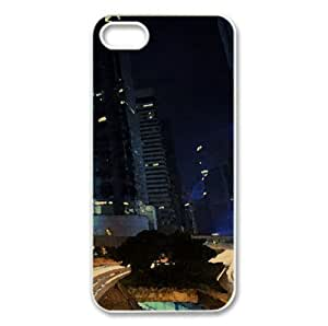 City Night Watercolor style Cover iPhone 5 and 5S Case