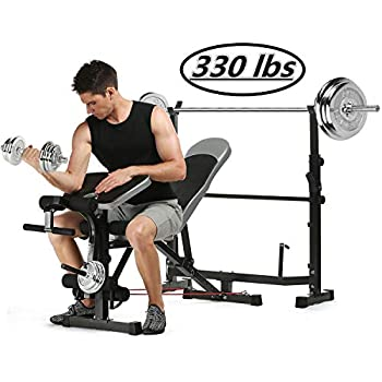 Astounding Kepteen 330Lbs Adjustable Olympic Weight Bench With Preacher Curl Leg Developer Multi Functional Weight Bench Set Power Tower Workout Dip Station Dailytribune Chair Design For Home Dailytribuneorg