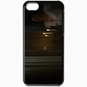 Personalized iPhone 5C Cell phone Case/Cover Skin 100 Feet Black