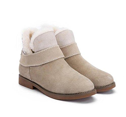 schaffell NSXZ weiblich Winter multifunktionale neue schnee flips warme stiefel stiefel txwqAUvxg