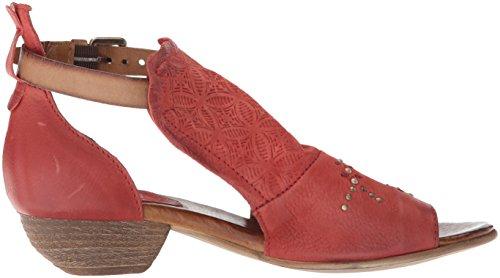 Miz Mooz Women's Carey Heeled Sandal, Black, Medium Tomato