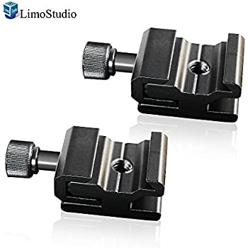 Compatible With All Flash Photo Studio Light Stand Mount With 1//4 Inch Screw Thread Hole Nikon LimoStudio Flash Bracket Hot Shoe Mount Base Adapter 2 Packs AGG2114 Flash Light Stand for Canon