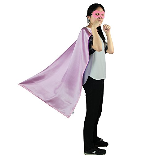 iROLEWIN Superhero Cape Adult Sized Costumes With Mask (110cm) (Team Superhero Costumes)