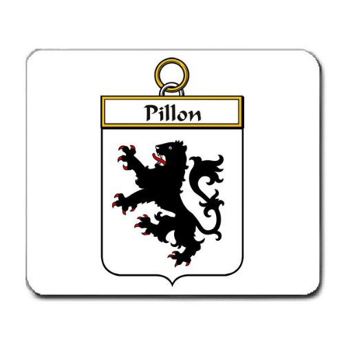 Pillon Family Crest Coat of Arms Mouse Pad