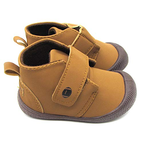 Gerber Baby Boys Early Walker Strap Bumper Toe Shoes Light Weight Brown Size 3 Age 6-9 Months