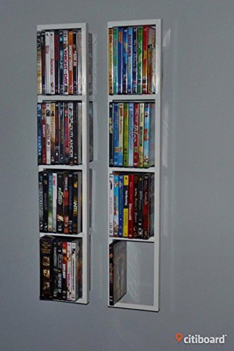 Smland Bna Ikea Lerberg Cd Dvd Wall Shelf White X2 Amazon In Electronics