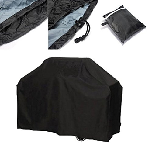 VORCOOL 190cm Waterproof BBQ Barbecue Cover Protective Grill Cover with Storage Bag – Size XL (Black)