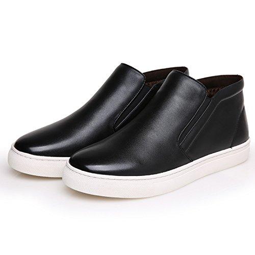 WZG Die neuen Baumwolle gepolsterte Schuhe warme Winter plus Samt Männer Casual Herrenschuhe Martin Stiefel Baumwolle Stiefel , black , 42