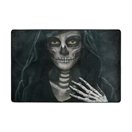 Top Carpenter Halloween Makeup Skeleton Area Rug Carpet for Living Room Bedroom 6'x4' Light Weight Polyester Fabric