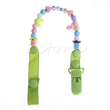GIRLS BOYS NEW BABY GIFT GROSGRAIN RIBBON DUMMY CLIP !! GET ONE FREE !!! BUY 3