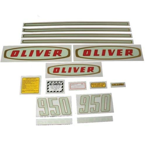All States Ag Parts Tractor Decal Set 950 Early Diesel Mylar Oliver 950