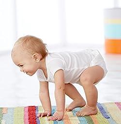 Gerber Unisex-Baby Newborn 2 Pack Waterproof Pant,White,6-9 Months