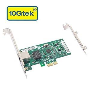 10Gtek Broadcom BCM5751 Chip Gigabit PCI-e Desktop Network Card NIC, PCIE Card