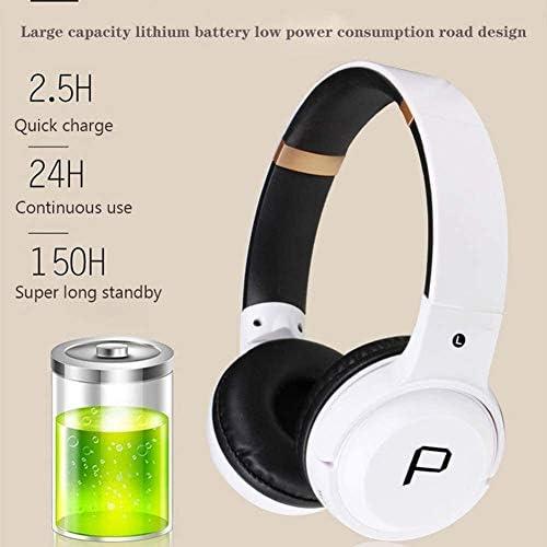 TYGYDLQ ワイヤレスヘッドセット、Bluetoothヘッドセット、ヘッドセットを充電折りたたみヘッドフォン、防水ヘッドセット、重低音のゲーミングヘッドセット、ポータブルヘッドフォン、 (Color : Green)