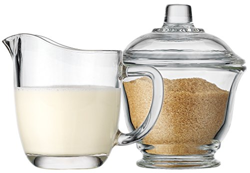 Palais Glassware Clear Sugar and Creamer Set